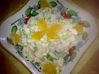 Рецепт Салат из курицы и апельсина рецепт с фото