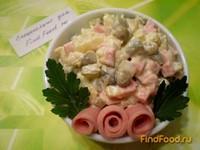 Рецепт Салат Столичный с сыром и французской горчицей рецепт с фото