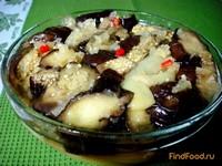 Рецепт Салат из запеченных баклажанов и перца рецепт с фото