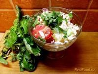Рецепт Салат с печеным болгарским перцем и помидорами рецепт с фото