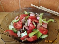 Рецепт Овощной салат с шампиньонами рецепт с фото