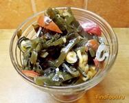 Рецепт Салат из морской капусты с морепродуктами рецепт с фото