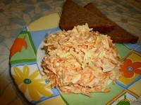 Рецепт Салат из колбасного сыра и моркови рецепт с фото