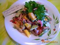 Рецепт Салат овощной с колбасой рецепт с фото