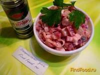 Рецепт Овощной салат с сельдью рецепт с фото