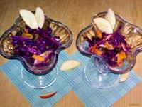Рецепт Салат из краснокочанной капусты с яблоком рецепт с фото