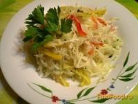 Рецепт Капустный салат с черной редькой и перцем рецепт с фото