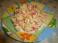 Рецепт Салат с крабовым мясом и болгарским перцем рецепт с фото