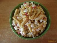 Рецепт Крабовый салат с рисом и сухариками рецепт с фото