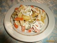 Рецепт Картофельный салат с огурцами и морковью рецепт с фото