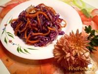 Рецепт Капустный салат с морковью по-корейски рецепт с фото