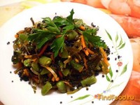 Рецепт Салат из морской капусты и стручковой фасоли рецепт с фото