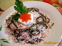 Рецепт Салат из морской капусты и крабовых палочек рецепт с фото