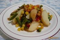 Рецепт Теплый салат на скорую руку рецепт с фото