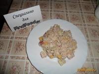 Рецепт Салат с консервированной рыбой рецепт с фото