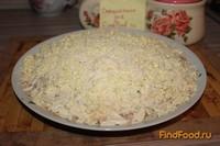 Рецепт Рыбный салат с колбасным сыром рецепт с фото