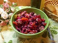 Рецепт Сытный мясной салат с рисом рецепт с фото