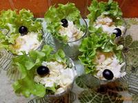 Рецепт Салат с креветками и ананасом рецепт с фото