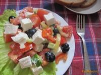 Рецепт Греческий салат с салакисом рецепт с фото