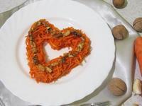 Рецепт Морковь по-корейски с грецкими орехами рецепт с фото