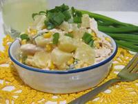 Рецепт Салат с ананасом и кукурузой рецепт с фото