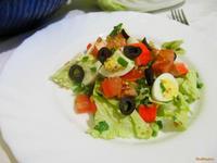 Рецепт Салат с крабовыми палочками и пекинской капустой рецепт с фото