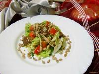 Рецепт Салат из пекинской капусты и курицы рецепт с фото