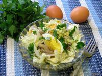 Рецепт Салат из пекинской капусты с маринованными вешенками рецепт с фото