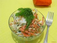 Рецепт Салат из капусты со сметанно-горчичной заправкой рецепт с фото