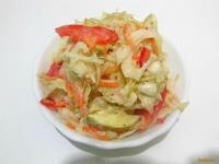 Рецепт Салат из капусты и сладким перцем рецепт с фото