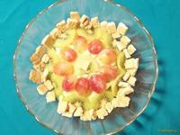 Рецепт Фруктовый салат с печеньем и йогуртом рецепт с фото
