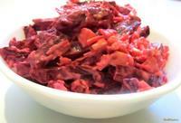 Рецепт Салат Свекла с сыром и чесноком рецепт с фото