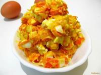 Рецепт Салат с крабовых палочек с морковью рецепт с фото