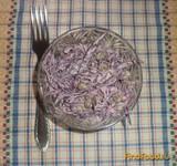 Рецепт Салат из краснокачанной капусты с зеленым горошком рецепт с фото