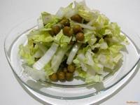 Рецепт Салат из пекинской капусты и зеленого горошка рецепт с фото