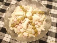 Рецепт Оливье домашний с луком рецепт с фото