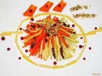 Рецепт Салат десертный с сыром рецепт с фото