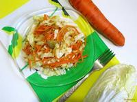 Рецепт Салат из пекинской капусты и корейской моркови рецепт с фото