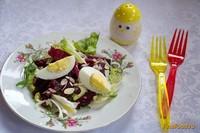 Рецепт Свежий салат со свеклой и яйцом рецепт с фото