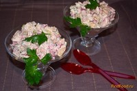 Рецепт Зимний салат с курицей и свеклой рецепт с фото
