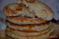 Рецепт Сырные пышки с сырно колбасной начинкой рецепт с фото