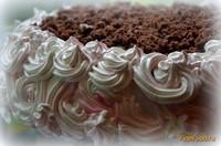 Рецепт Торт Именинный c шоколадным кремом и вишней рецепт с фото