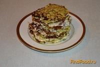 Рецепт Кабачковый торт с мясной начинкой рецепт с фото