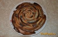 Рецепт Пирог Полосатая роза рецепт с фото