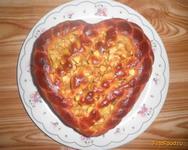 Рецепт Пирог с яблоками Сердце рецепт с фото