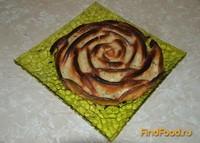Рецепт Яблочный пирог Роза рецепт с фото
