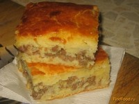 Рецепт Пирог на кефире с мясным фаршем рецепт с фото