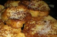 Рецепт Сладкие ванильные гренки рецепт с фото