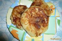Рецепт Дрожжевые оладьи с яблочным припёком рецепт с фото