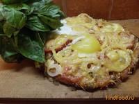 Рецепт Грибная пицца с яйцом рецепт с фото